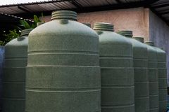 Large eco- friendly water storage tank Stock Photos