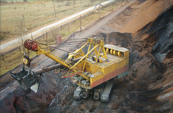 Large electric excavator in a quarry Royalty Free Stock Photos