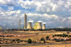 Large electricity power station Stock Photography