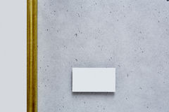 Large empty golden canvas in modern gallery Stock Images