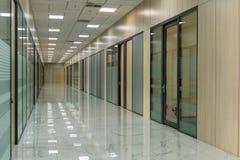 Large empty office corridor interior royalty free stock photo