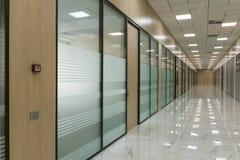Large empty office corridor interior royalty free stock photos