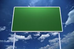 Large Empty Road Sign Royalty Free Stock Images