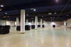Large, empty warehouse. royalty free stock photography