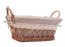 Large empty wicker basket Royalty Free Stock Photos