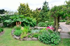 Large English garden Stock Photos