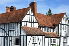 Large english timbered house Royalty Free Stock Photos