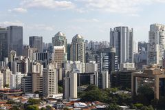 Building the city of Sao Paulo, South America Brazil royalty free stock photography