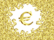 Large euro Stock Photo
