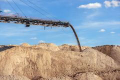 Large excavator machine in the mine Royalty Free Stock Photography