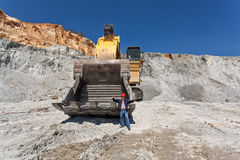 Large excavator at Open pit 2 Stock Photo