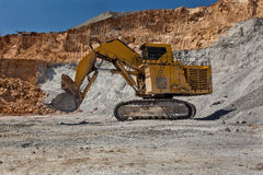 Large excavator at Open pit Royalty Free Stock Photo