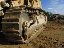 Large Excavator Track Royalty Free Stock Photo