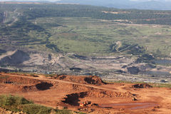 Large excavator at work in one of the mining lignite Stock Image