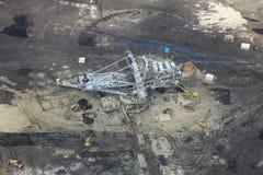 Large excavators in coal mine Stock Images