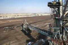 Large excavators in coal mine Stock Image