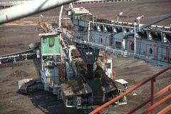 Large excavators in coal mine Stock Photo