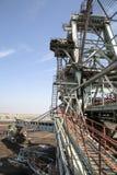 Large excavators in coal mine Royalty Free Stock Photos