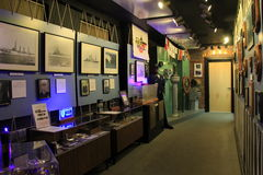 Large exhibit covering some of Albany`s naval history, Visitor`s Center, New York, 2016 Stock Images