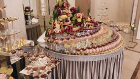 A large expensive buffet with elite alcoholic beverages and fresh fruits