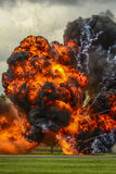 Large explosion. Photographed at an Airshow display Royalty Free Stock Photo