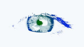 Large eye of the woman. Tinted blue and green stock video
