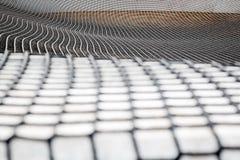 Large fabric mesh, big net on the street. Large fabric mesh, big  black net on the street Royalty Free Stock Photos