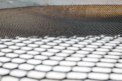 Large fabric mesh, big net on the street Royalty Free Stock Photography