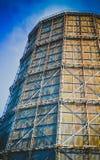 Large factory chimney of slate Stock Photos