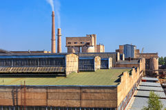 Large factory with smoking chimneys Royalty Free Stock Photography