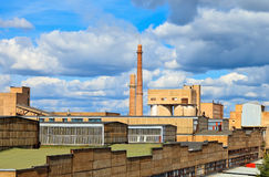 Large factory with smoking chimneys Royalty Free Stock Photos