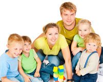Large family royalty free stock photos
