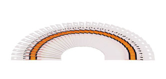 Large fantail of the test strips. Fan of the test strips on a white background Stock Photos