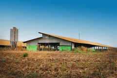 Large farm barn and silo Stock Photography