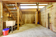 Large farm horse stable barn. royalty free stock photography