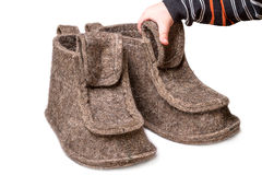 Large felt boots Royalty Free Stock Photos