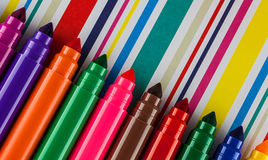 Large felt tip pens Stock Image