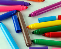 Large felt tip pens Royalty Free Stock Photo
