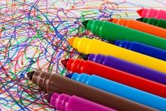 Large felt tip pens Royalty Free Stock Photography