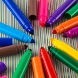 Large felt tip pens Stock Images