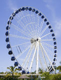 Large ferris wheel. A large ferris wheel on a sunny day with blue sky Stock Photos