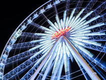 Large Ferris wheel in Bangkok with movement Stock Photo