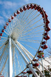 Large Ferris wheel in blue sky background Royalty Free Stock Images