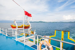 On a large ferry in Bali Royalty Free Stock Photography