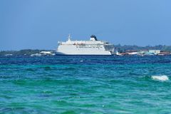 Large ferry boat in Bocas del Toro Panama Royalty Free Stock Image