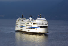 Large Ferry in the Pacific Northwest Horsehoe Bay. Vancouver British Columbia Stock Images
