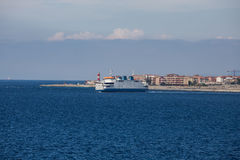 Large Ferry in the Straights of Messina Royalty Free Stock Photo