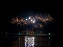 Large festive firework Stock Image