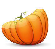 A large festive pumpkin. Vector illustration in cartoon style Royalty Free Stock Photos