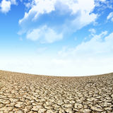 Large field of baked earth after a long drought Royalty Free Stock Image